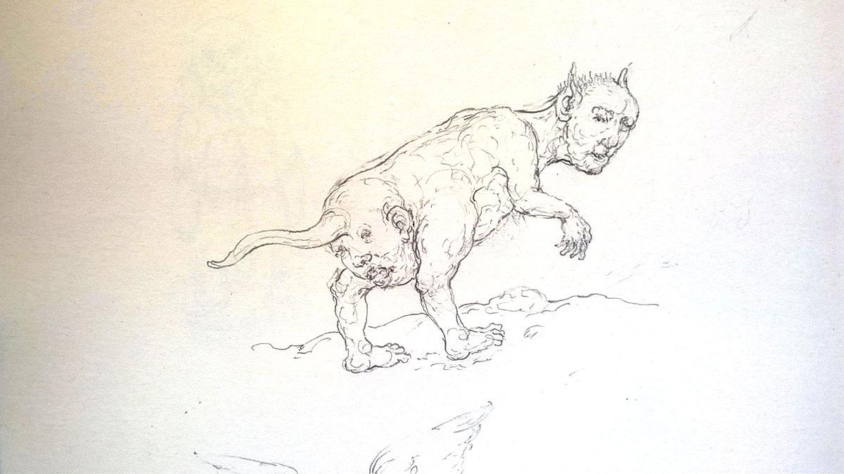 Diable se retournant, 2020, 11 x 13 cm
