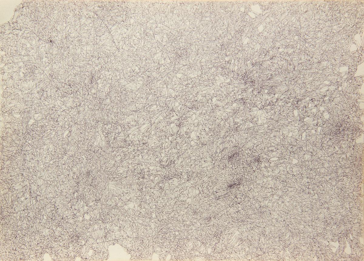 Philippe Briard - Gribouillis 7, 2011, dessin, 30 x 40 cm