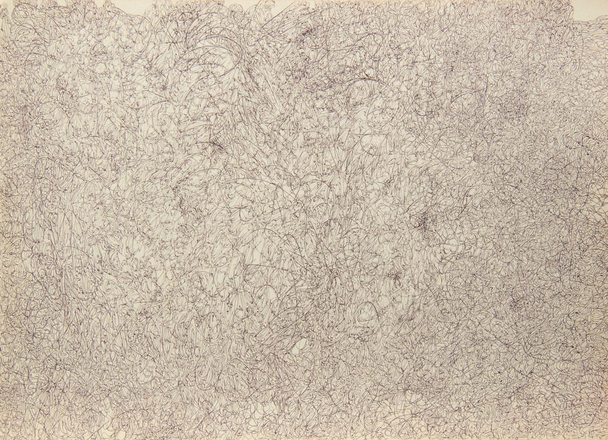 Philippe Briard - Gribouillis 6, 2011, dessin, 30 x 40 cm
