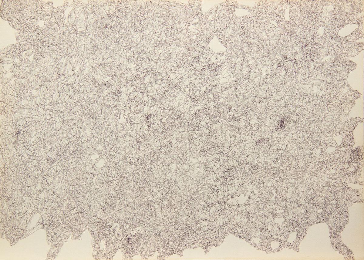 Philippe Briard - Gribouillis 5, 2011, dessin, 30 x 40 cm