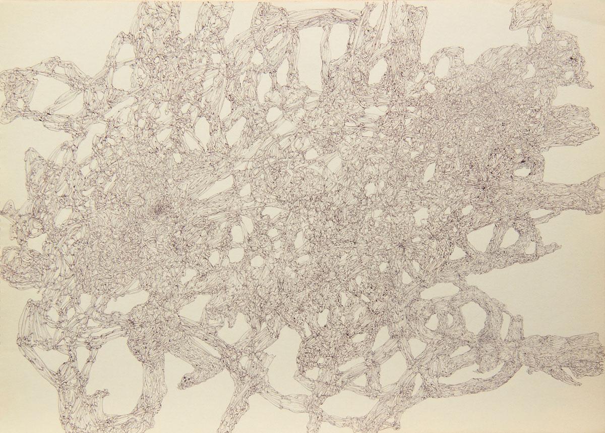 Philippe Briard - Gribouillis 4, 2011, dessin, 30 x 40 cm