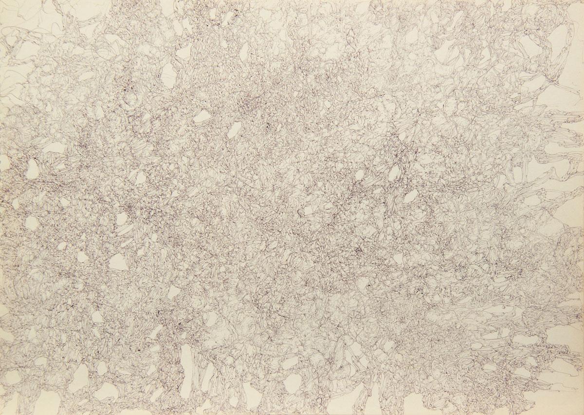 Philippe Briard - Gribouillis 3, 2011, dessin, 30 x 40 cm