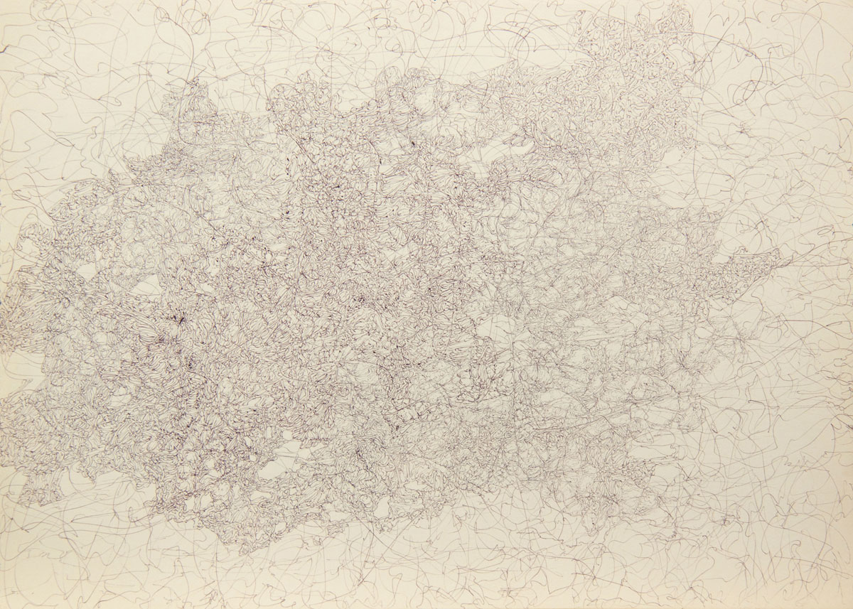 Philippe Briard - Gribouillis 1, 2011, dessin, 30 x 40 cm