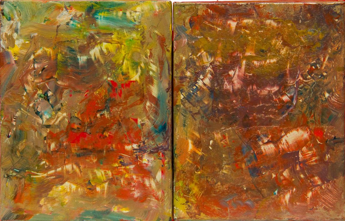 Philippe Briard - Sans titre, 2011, peinture à l'huile et collage sur boîte à cigares, 14,5 x 22,5cm