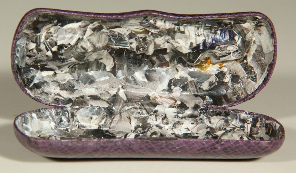 Philippe Briard - À perte de vue, 2010, collage acrylique dans boîte à lunettes, 6 x 15 cm