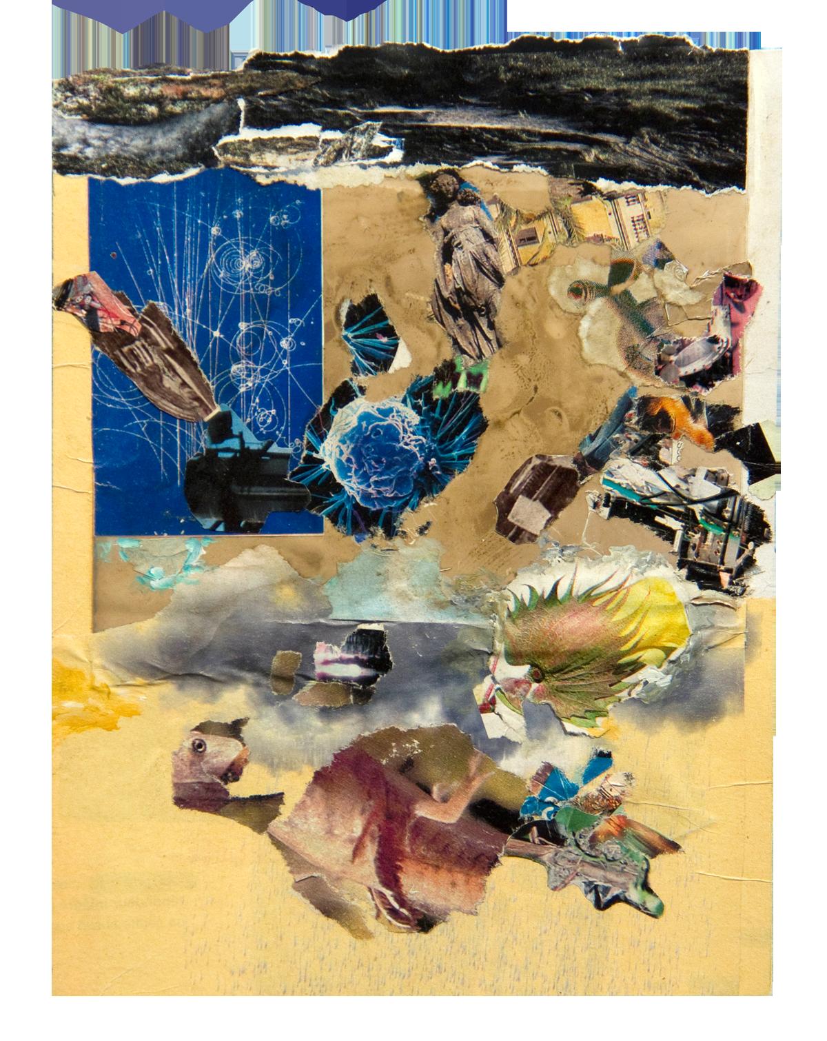 Philippe Briard - La Mort météore oh! logique, 2008, collage acrylique, 19 x 14 cm