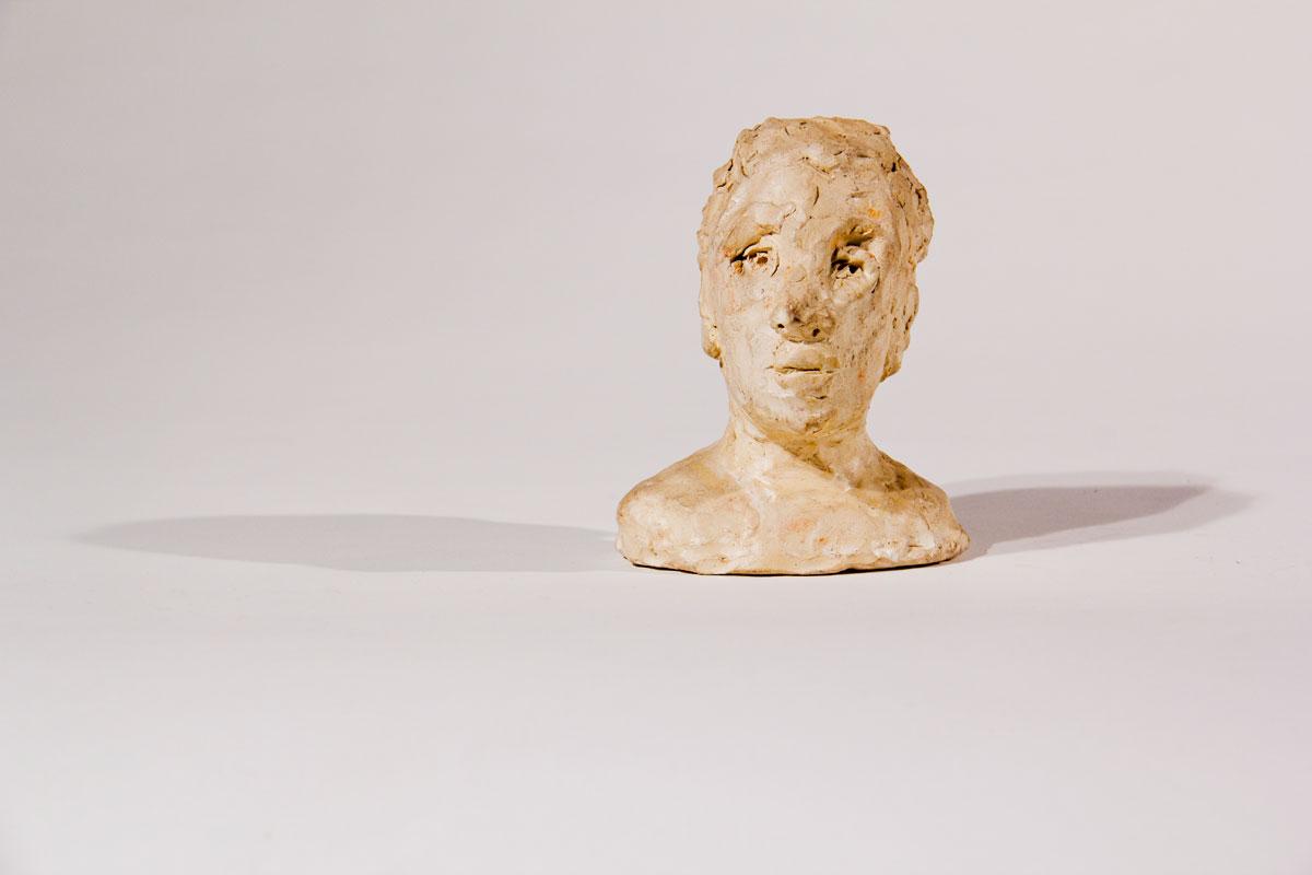 Philippe Briard - Buste de femme, 2007, terre cuite