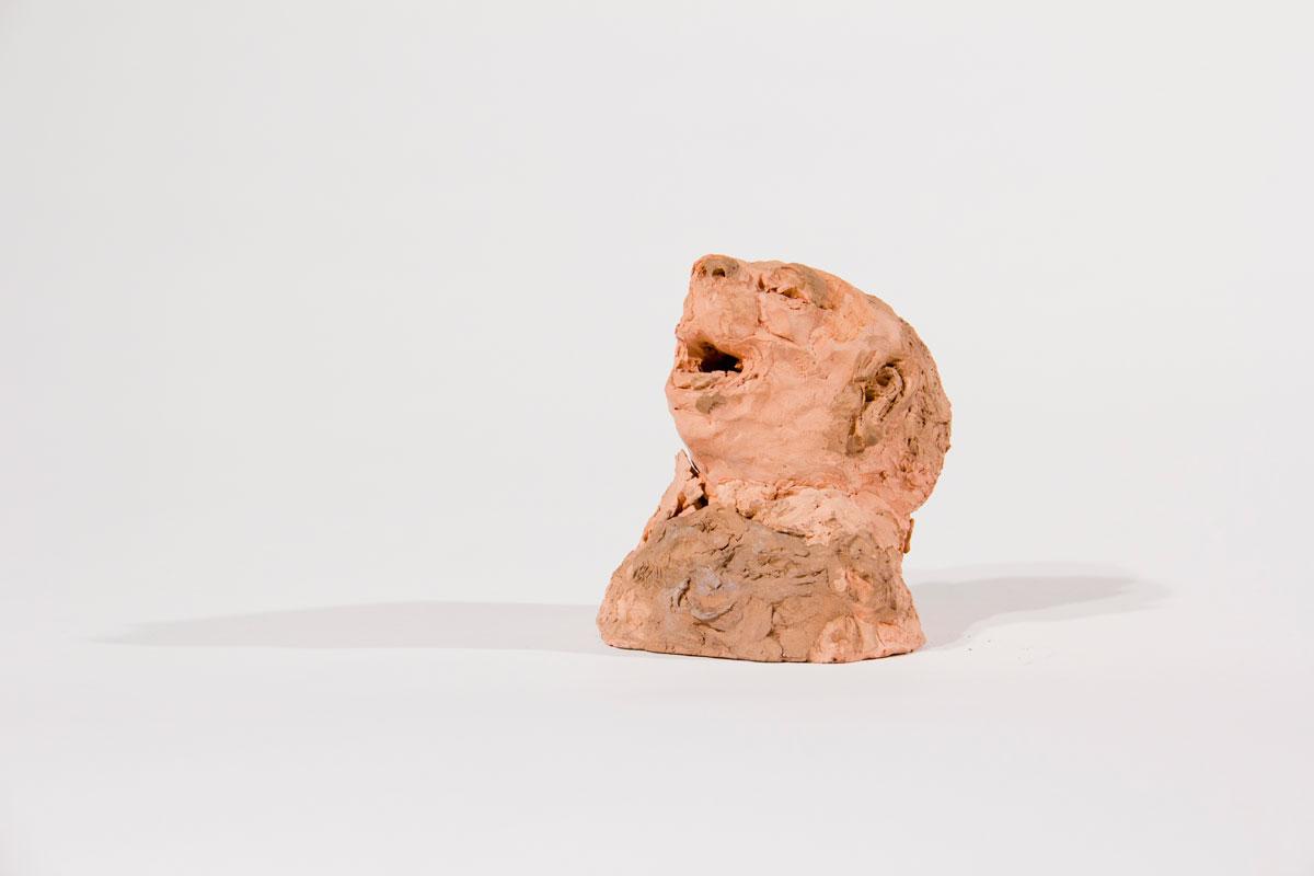 Philippe Briard - Homme à tête de chien, 2008, terre cuite