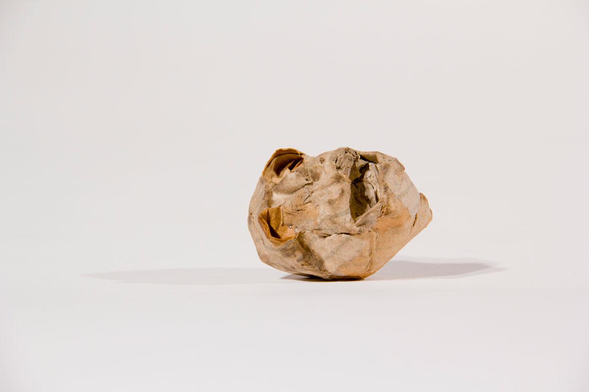 Philippe Briard - Crâne, 2011, papier mâché