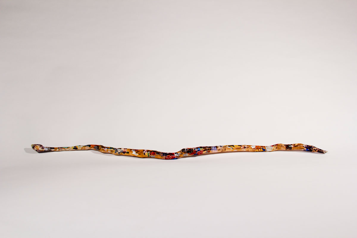 Philippe Briard - Serpent, 2012, collage, papier et bois