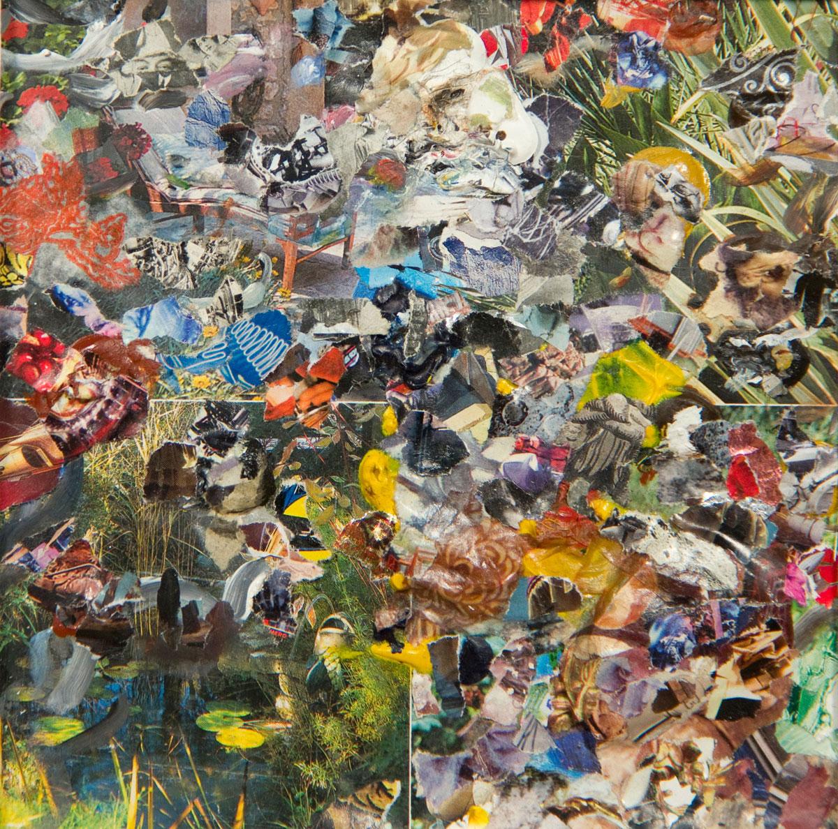 Philippe Briard - Les Marais chancelants, 2011, collage acrylique, 17 x 17cm