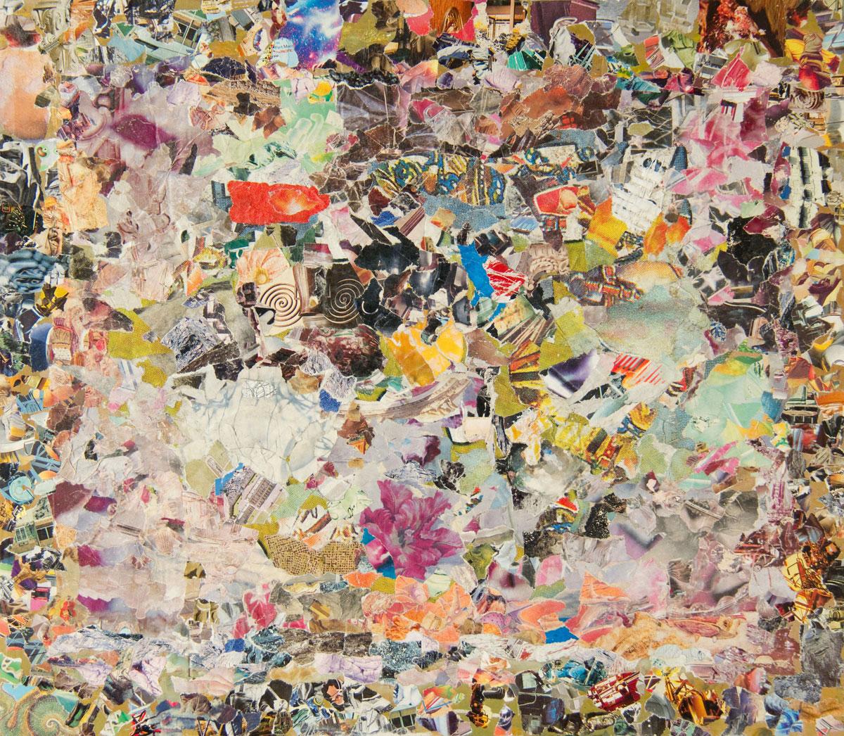 Philippe Briard - Fausse acalmie, 2011, collage, 41 x 47 cm
