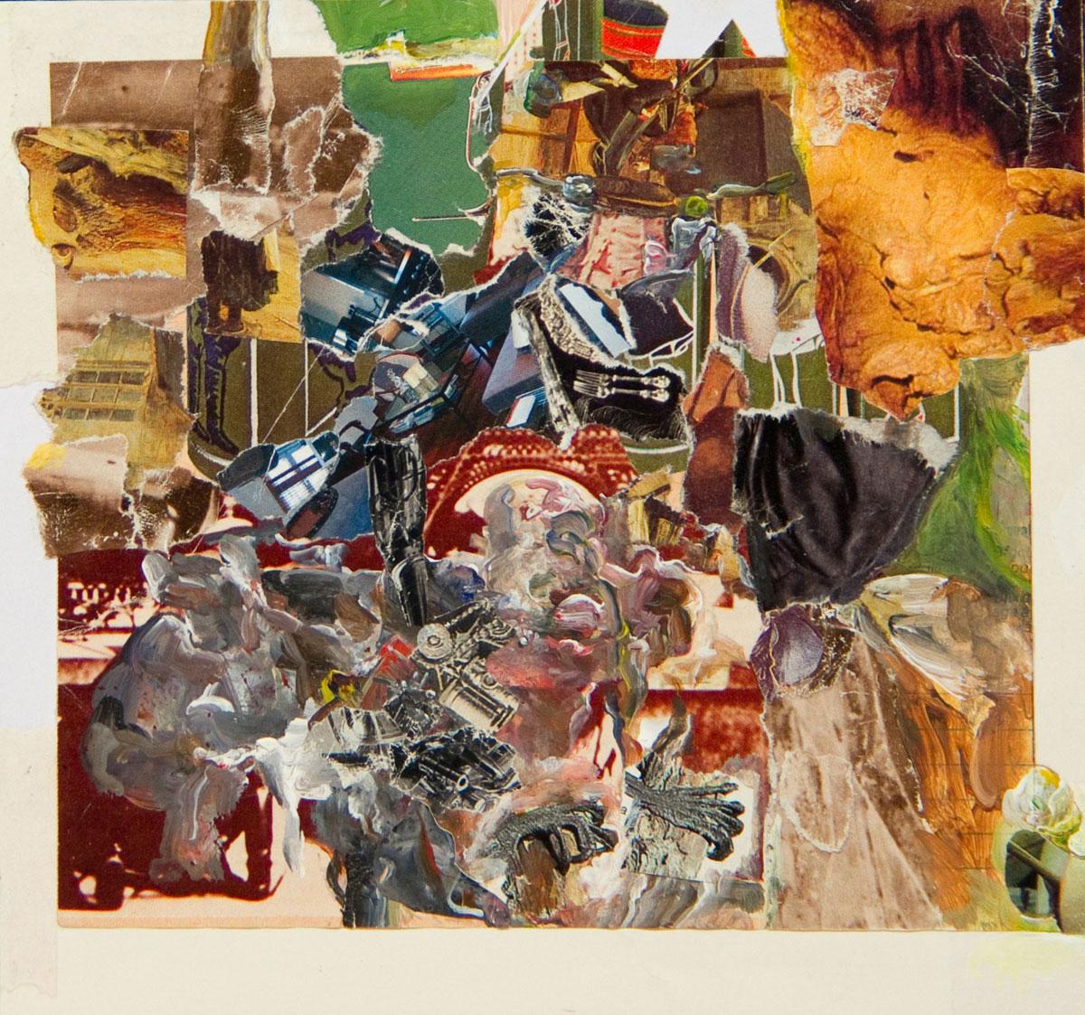 Philippe Briard - Les Pratiques aléatoires, 2011, collage acrylique, 14,5 x 16 cm