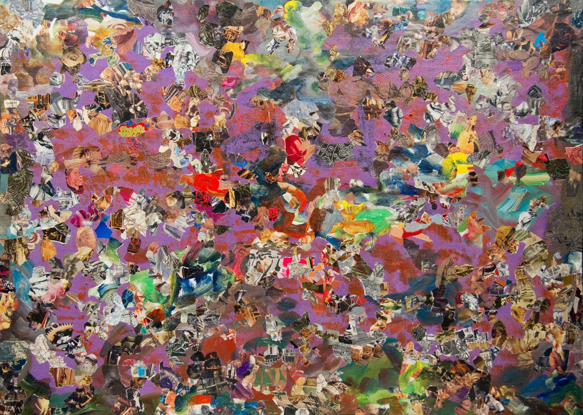 Philippe Briard - Les Entrecroisements parachevés, 2010, collages acryliques, 63 x 72,5 cm