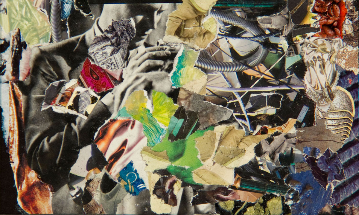 Philippe Briard - Le Port de la Drogue, 2011, collage, 10 x 16 cm