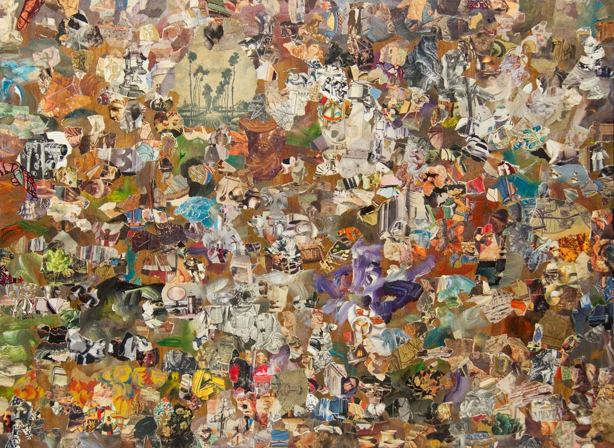 Philippe Briard - Les Chemins de traverse, 2010, collage acrylique, 42,5 x 57 cm