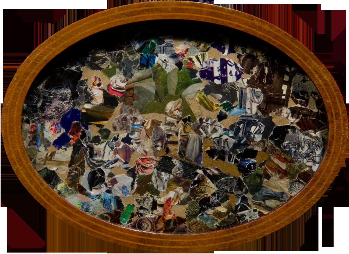 Philippe Briard - Au cœur des grâces mouvantes, 2008, collage, 13 x 16 cm