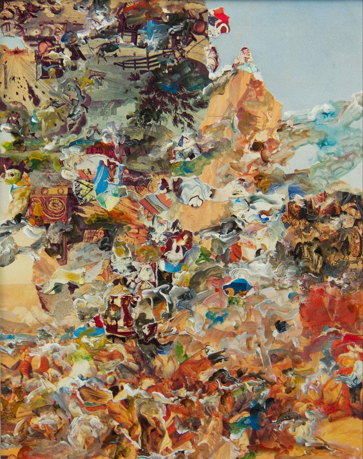 Philippe Briard - Lorsque la grâce s'époumonne, 2008, collage acrylique, 23 x 19 cm