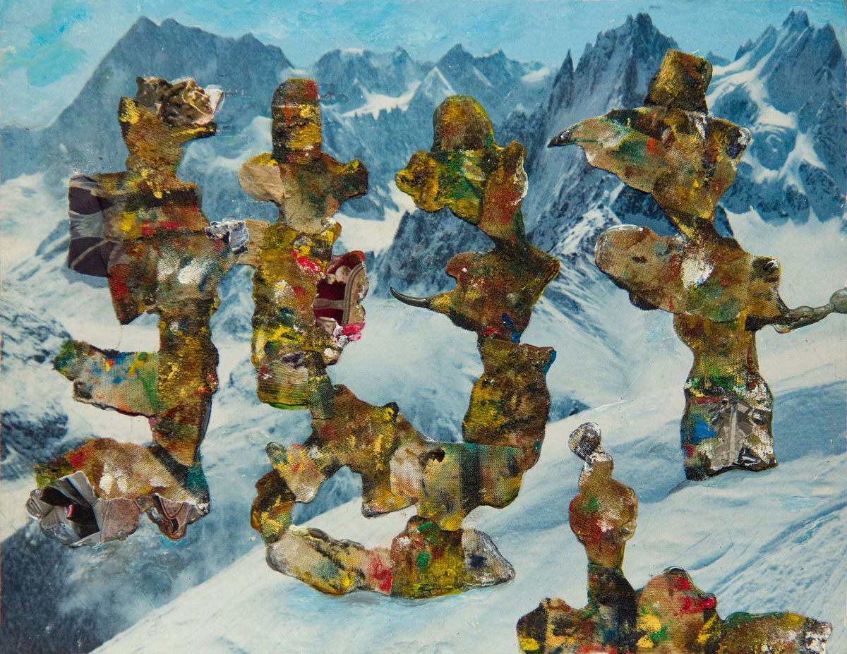 Philippe Briard - Clic clac Kodack, 2012, toile peinte et collage, 21 x 27 cm