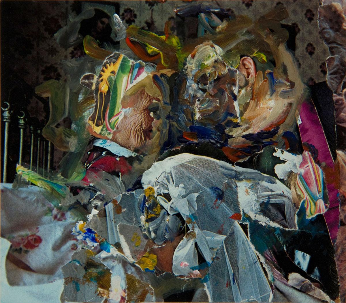 Philippe Briard - La Révélation des Métaterses, 2011, collage, 15 x 17 cm