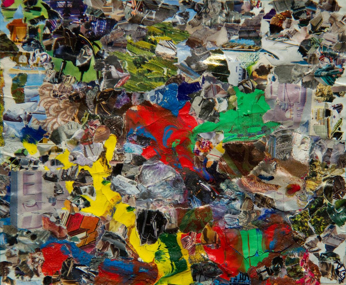 Philippe Briard - Ce que préfère la momie, 2011, collage acrylique, 15 x 18 cm