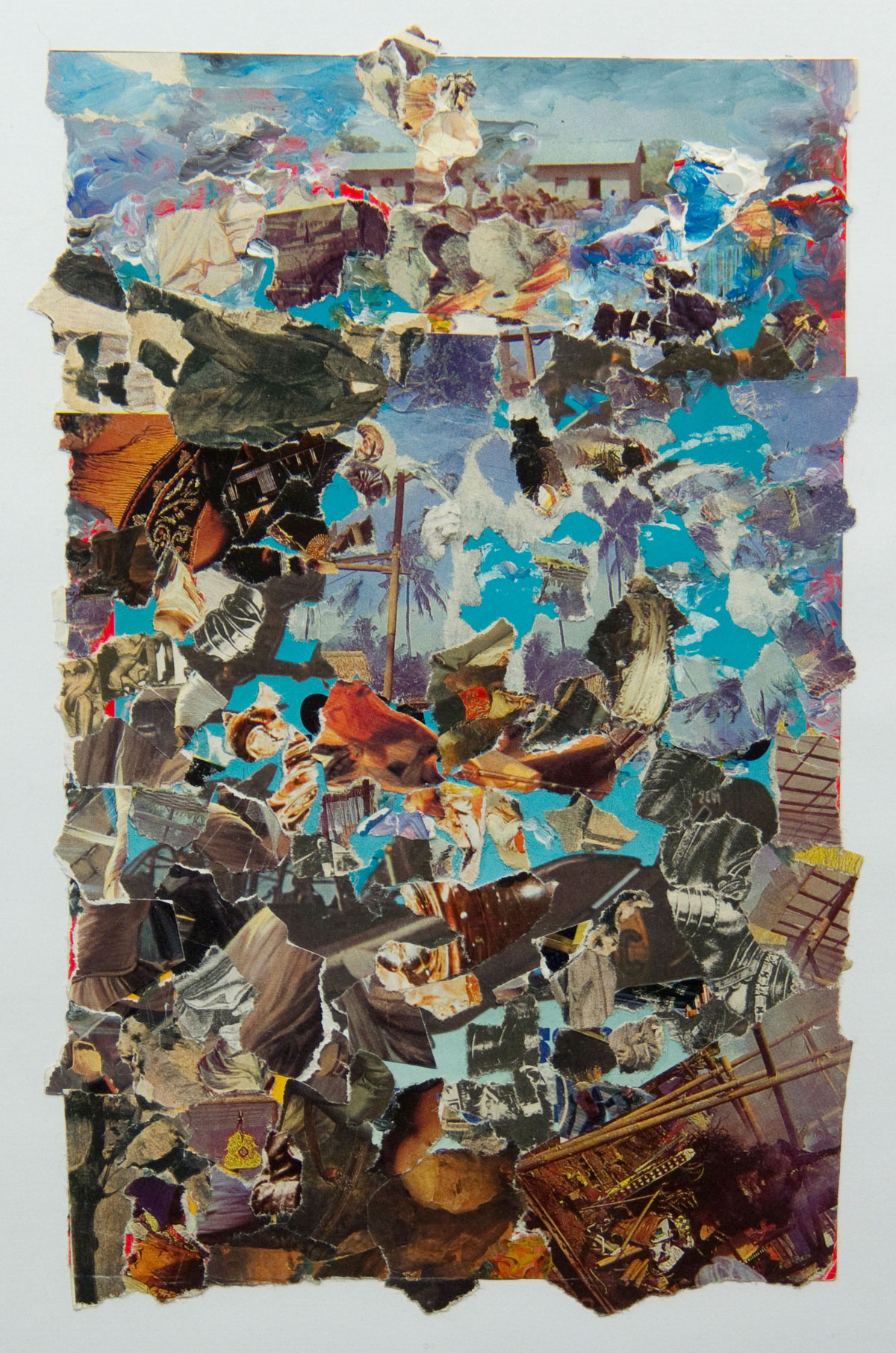 Philippe Briard - Vogue la galère, 2008, collage acrilique, 25 x 15,5 cm