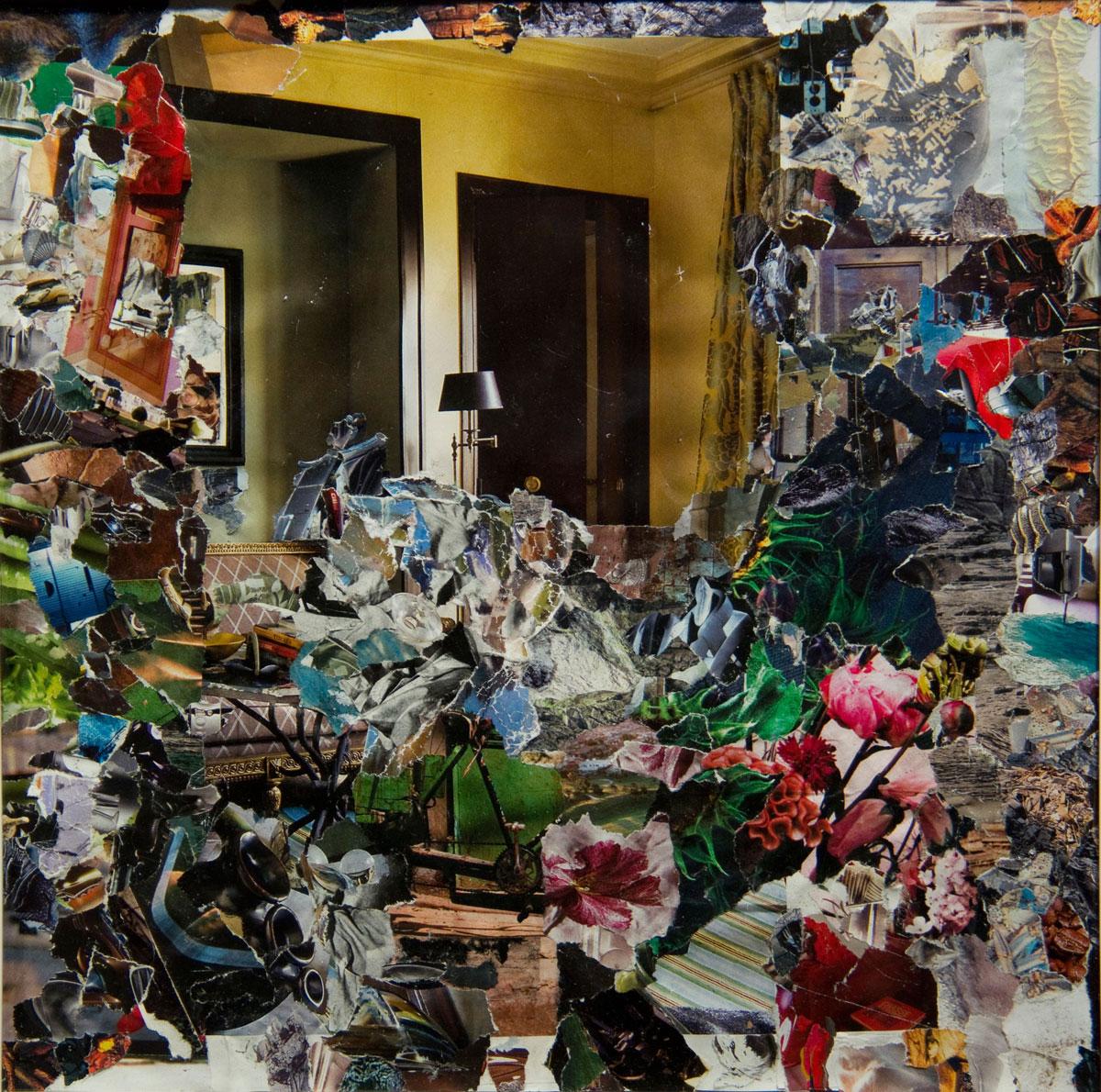Philippe Briard - Les Floraisons de la bicyclette, 2011, collage, 30 x 30 cm