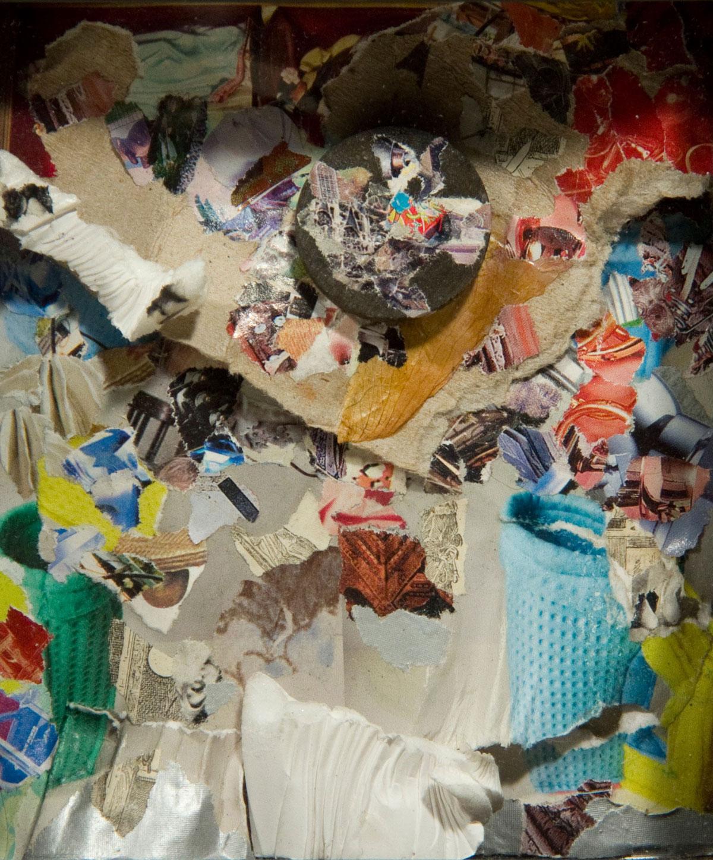 Philippe Briard - Les Trotoirs d'Amsterdam, 2010, collage, 11,5 x 13,5 cm