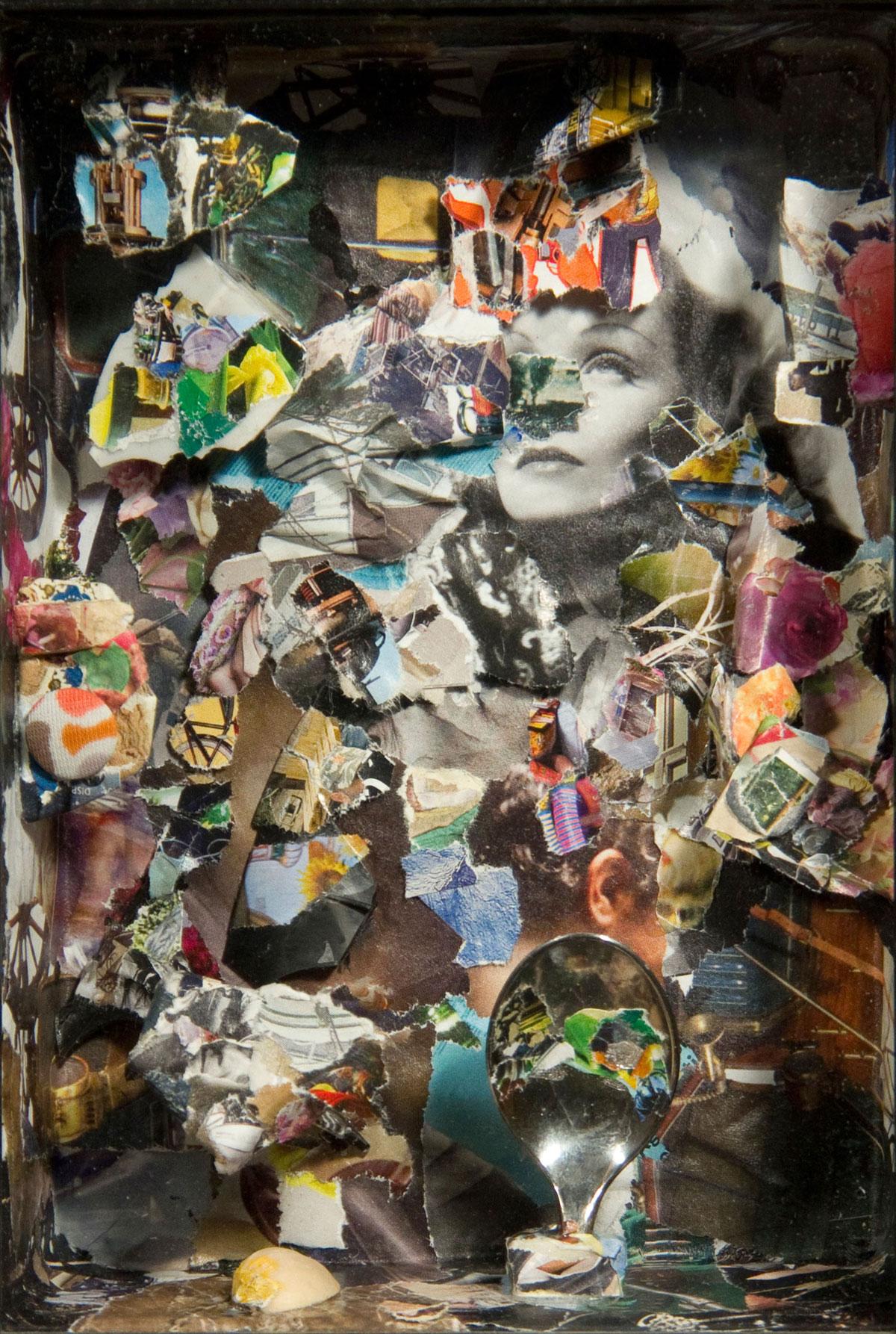 Philippe Briard - Le Bleu d'un lieu ouvert, 2010, collage, 19 x 13 cm