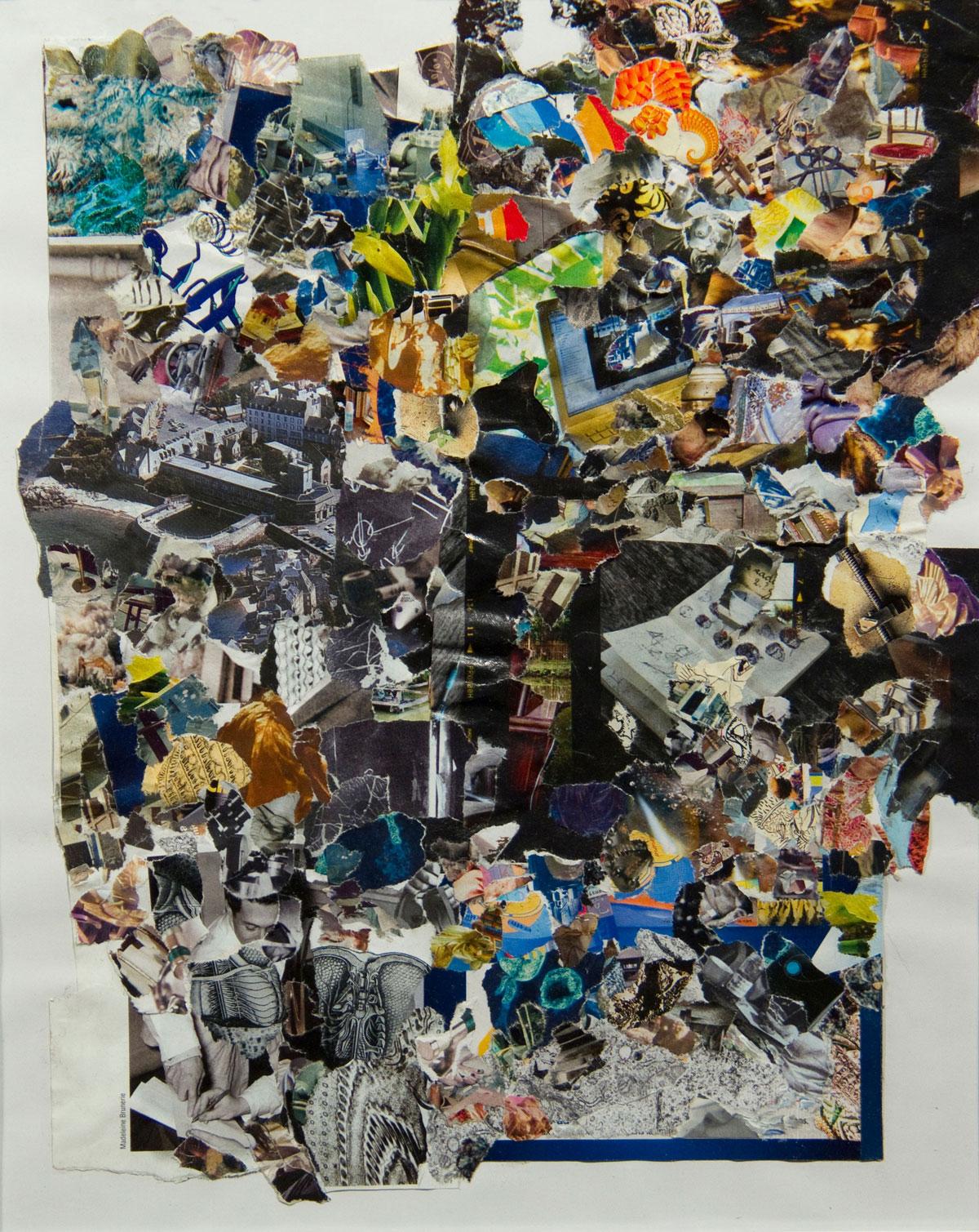 Philippe Briard - Distorsion topographique, 2011, collage, 29 x 23 cm