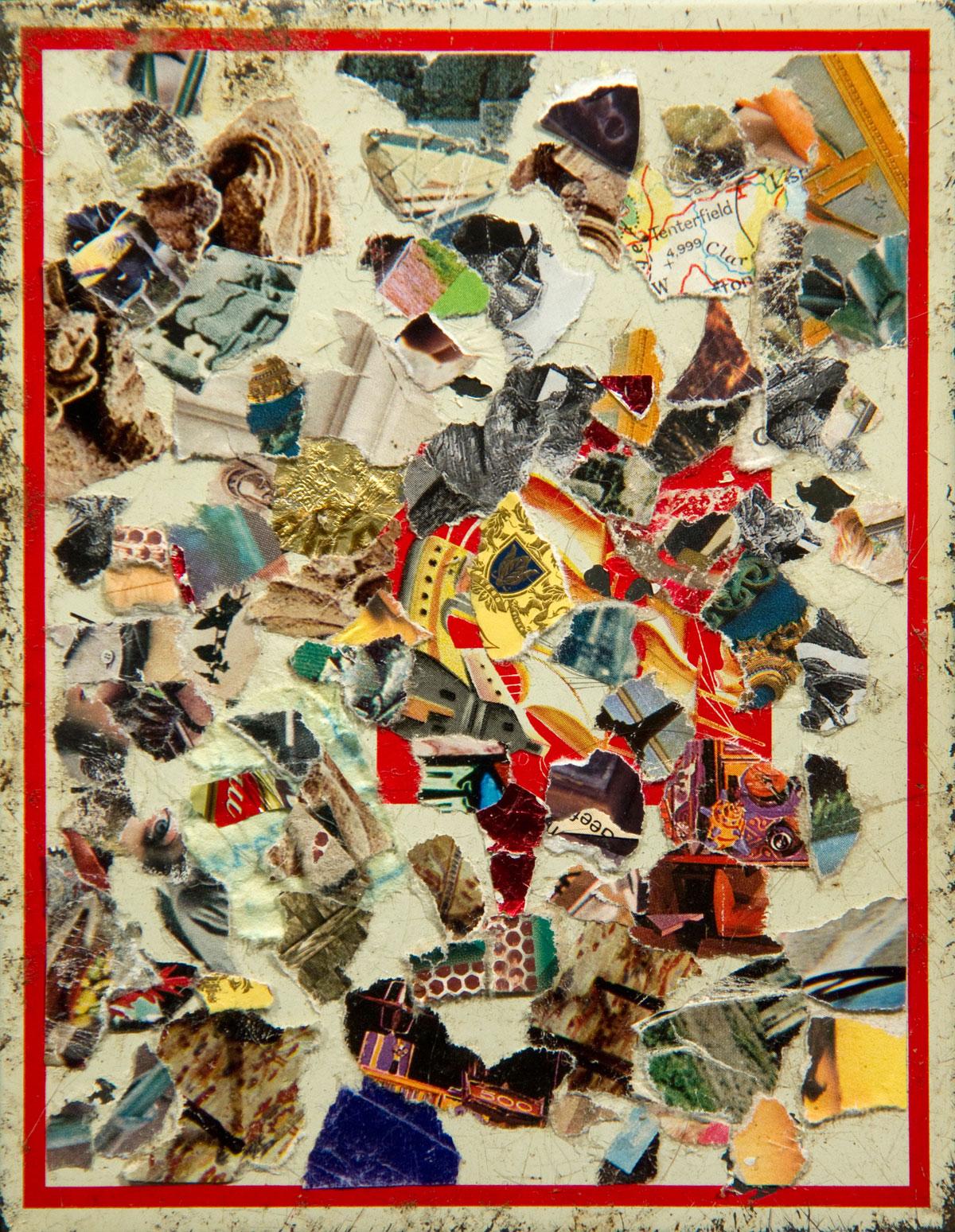 Philippe Briard - Les Transactions du goût de peindre, 2011, collage sur boîte à cigares, 14,5 x 11 cm