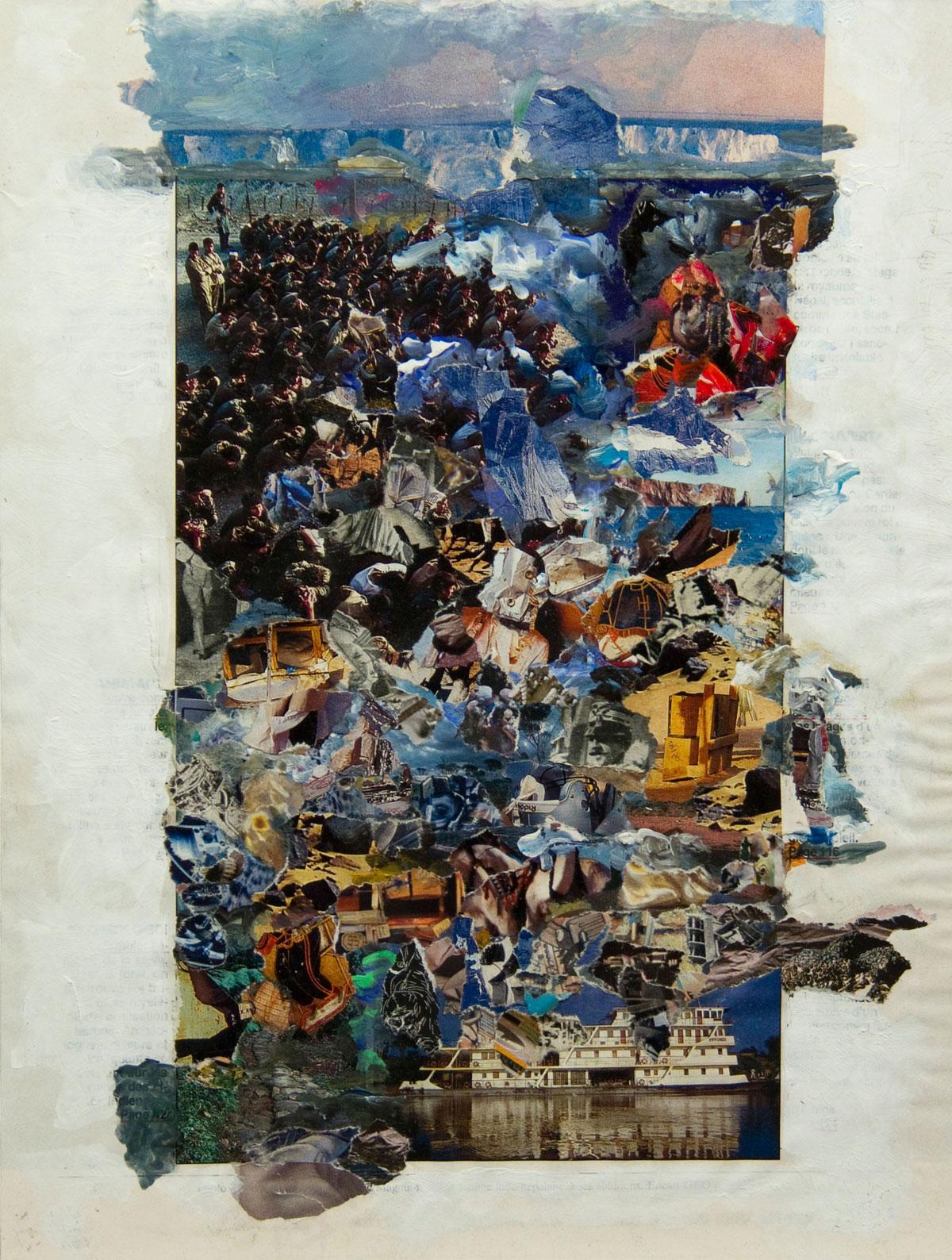Philippe Briard - Il se peut qu'il y ait des endroits préférables, 2010, collage acrylique, 19 x 26 cm