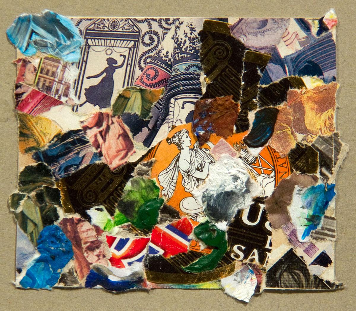 Philippe Briard - Paysages encastrés, 2010, collage acrylique, 8 x 9,5 cm