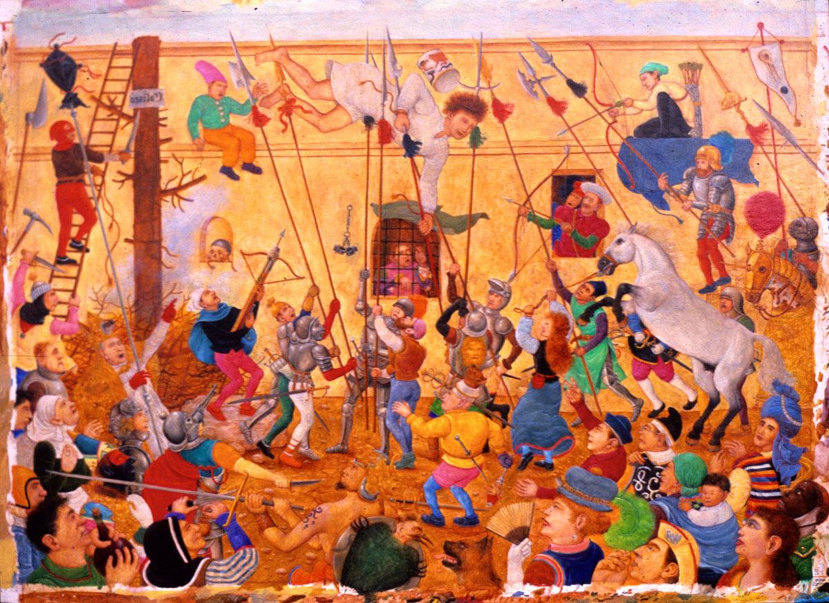 Philippe Briard - Coliseo ou l'échappée belle, 1986, huile sur panneau, 24 x 33 cm
