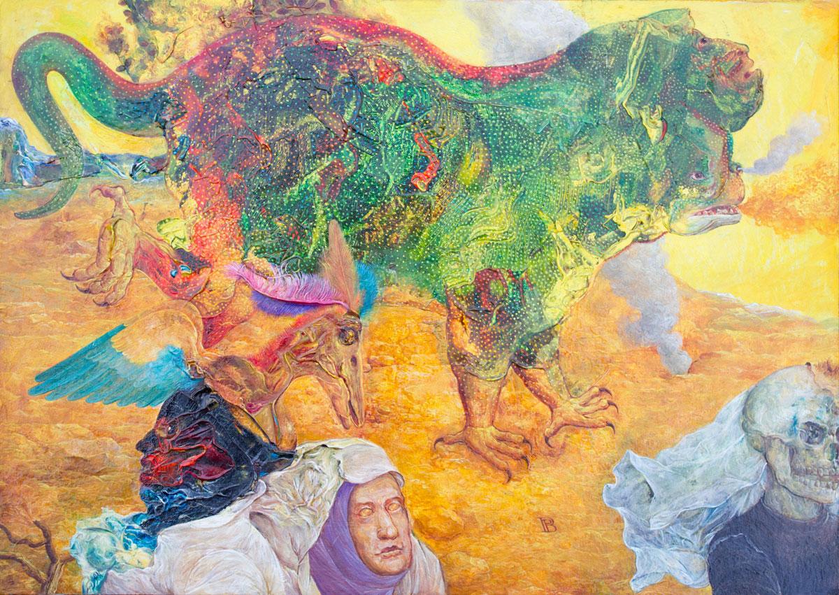 Philippe Briard - Apocalypse, 1999, huile sur panneau, 21 x 30 cm