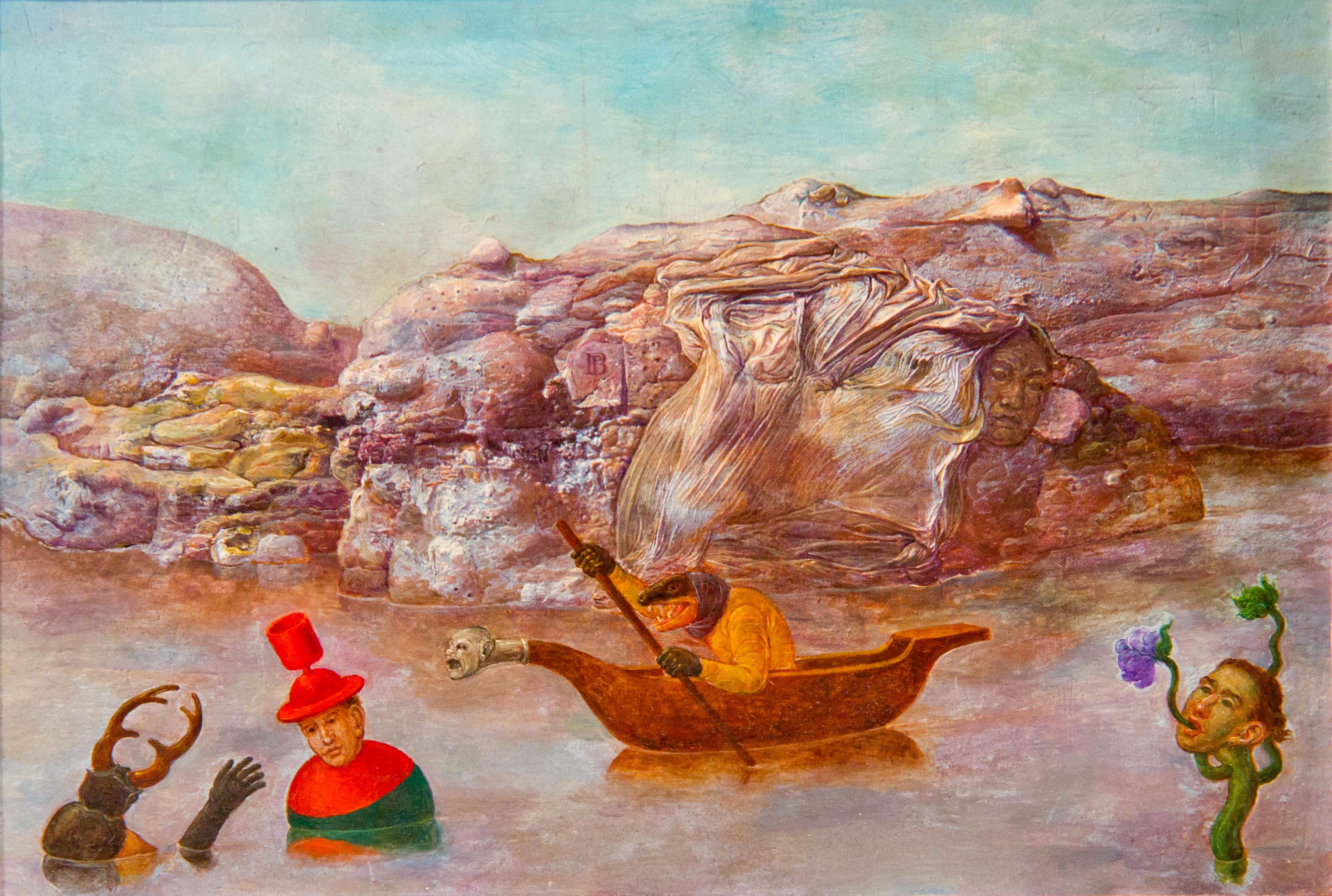 Philippe Briard - Au Fil de l'eau, 2005, huile sur panneau, 20 x 14 cm